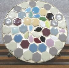 """VTG  Mosaic Tile Table Top Trivet    Rubber Tipped Footed  6"""""""