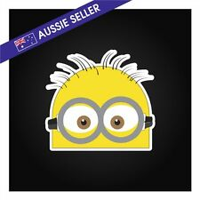 Peeping Minion car sticker Despicable Me JDM DRIFT family decal wall label