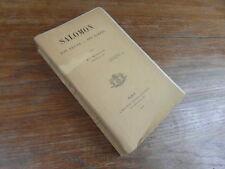 Mgr MEIGNAN / SALOMON Son Règne Ses Ecrits VICTOR LECOFFRE 1890