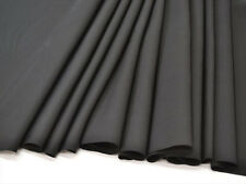RARE UNUSED Japanese Black Habutae Silk Kimono Bolt/Fabric/Textile w/Mon 11.3M