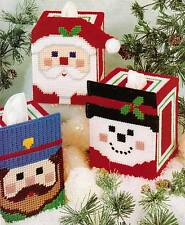 CHEERY FACES TISSUE BOX COVERS & TOTES PLASTIC CANVAS PATTERN INSTRUCTIONS