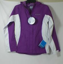 COLUMBIA GIRL'S MARY'S PEAK OMNI-TECH HOODIE JACKET PURPLE SZ L #XG2393-581-NWT