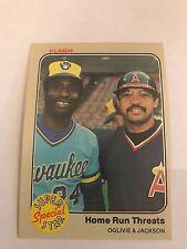 1983 Fleer Reggie Jackson California Angels #640 Ben Oglivie