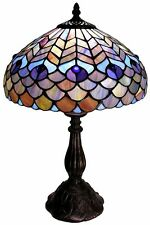 Tiffany-Style Table Lamp Desk Living Room Lighting Stained Glass Accent