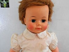 VINTAGE 1961 IDEAL KISSY BABY DOLL - KISSING DOLL -ROOTED HAIR - SLEEP EYES -23""