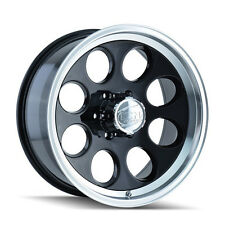 """CPP ION Alloys style 171 Wheels Rims 15x10, 5x4.5"""", black/machined,    SET OF 5"""
