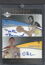 2006 Upper Deck Triology Nate Thurmond Patrick O'Bryant Autographed Both 31/33