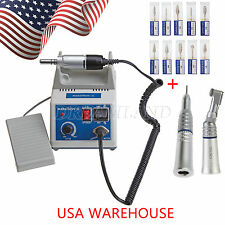 Dental Lab MARATHON 35k RPM Handpiece Electric Micromotor + 10PC Drills Burs FKy