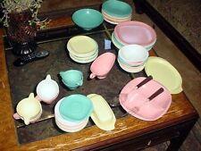50 Pieces  Boontonware Melmac Plastic Dishes Melamine