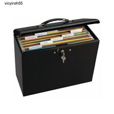 File Lock Box Folder Storage Boxes Security Metal Portable Steel Office Document