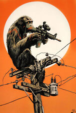 Francesco Francavilla Power to the Apes Planet of the Print Poster Mondo Artist