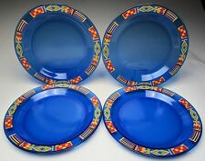 Avon Arcoroc France Cobalt Dinnerware Southwest Theme Set of Four Dinner Plates