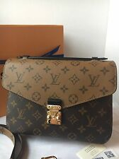 Auth New Louis Vuitton Pochette Metis Reversed Monogram Bag
