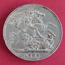 1902 EDWARD VII SILVER CROWN
