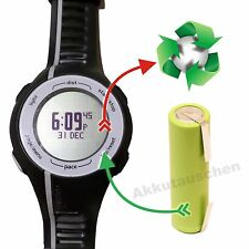 Akkutausch-Service Akkuwechsel für Laufuhr/ GPS Garmin Forerunner 110 / 210