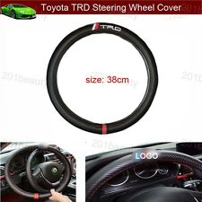 1pcs Toyota TRD Racing Carbon fiber Car Steering Wheel Cover Size 38cm Free ship