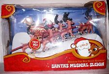 2013 RUDOLPH THE RED NOSED REINDEER SANTA'S MUSICAL SLEIGH NRFB