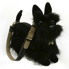 Rare Fuzzy Nation 'Love on a leash' Scotty/Scottish Terrier Puppy Purse Handbag