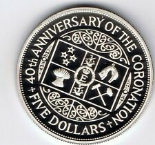 1993 New Zealand PROOF sterling silver $5 five dollars coin - 27.2g