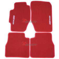 Fit 1998-2002 Honda Accord 6th Gen Red Nylon Floor Mats Carpets MUGEN Embroidery