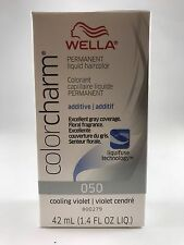 Wella Color Charm Permanent Hair Toner - 050 Cooling Violet + Free Shipping