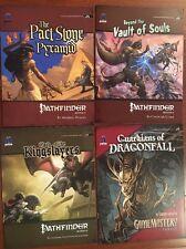 Big lot of 18 Pathfinder Gamemastery RPG Modules by Paizo - NM-M