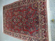 """6'1""""x9'0"""" Handmade Persian Sarouk Wool Rug"""