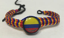 LOT OF 3 COLOMBIA FLAG BRACELET, PERUVIAN FRIENDSHIP FREE SHIPPING, SHIPS FAST