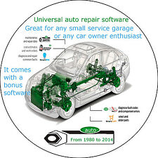 Auto Repair And Maintenance Software- All brands from 1980 to 2014-Multilanguage