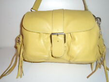 ROOTS LEMON YELLOW  RARE LIMITED EDITION  ALL  LEATHER EMILY  NEAR MINT !