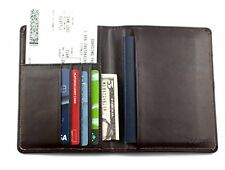 RFID Blocking Genuine Leather Wallet Passport Holder Travel Ticket Organizer ...