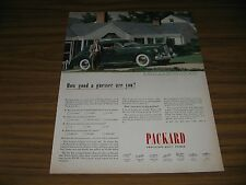 1945 Print Ad 3 Year Old Packard Clipper Car Looks Like Just Bought