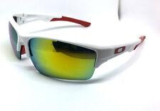 Gafas de sol deportivas para Hombre Mujer Ciclismo Running unidad fuego Lentes Marco Blanco