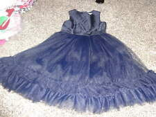 JANIE AND JACK 5 GORGEOUS BLUE DRESS HOLIDAY TRADITIONS SILK