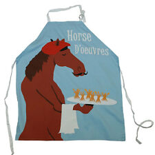 Horse d'oeuvres Apron -Adult Men Women NEW-Full Bib Apron with French Horse