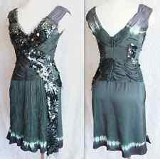 New Prada sz 46 / US 10 silk print embellished sequin dip dye dress, $3190