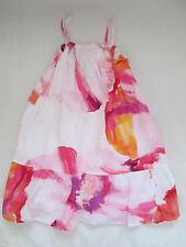 BABY GAP TODDLER GIRLS MAXI DRESS MAUI PINK FLORAL RUCHED SIZE 2