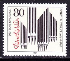 Germany 1507 MNH 1987 Dietrich Buxtehude Composer - Organ Pipes & Signature