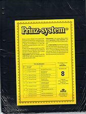 10 Prinz System 8 strip Single sided Pages stock sheet