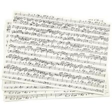 Sheet Music Notes Print Paper - A4 x 10 Sheets - Craft Kraft Musical Score Make
