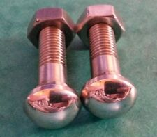 2x 5/16 BSF Bumper Bolt Polished Chrome Style Stainless Steel Morris Minor Riley