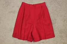 NWT Womens Talbots Petites Red Worsted Wool Long Cuffed Winter Walking Shorts 8P