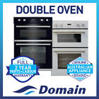 NEW 60cm 9 + 4 FUNCTION DOUBLE ELECTRIC FAN FORCED WALL OVEN DESIGNER LOOK