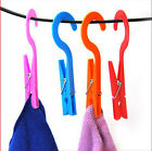 2pcs Multifunction Portable Home Laundry Travel Clothes Towels Hanger Hook Clips