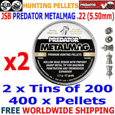 JSB PREDATOR METALMAG .22 5.50mm Airgun Pellets 2(tins)x200pcs (HUNTING PELLETS)