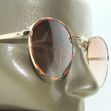 Metal Wire Frame Gold Browns +1.50 Lens Tint Bifocal Reading Glasses Sunglasses