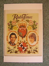 NEW Postcard Radio Times cover July 1981 Royal Wedding Prince Charles and Diana