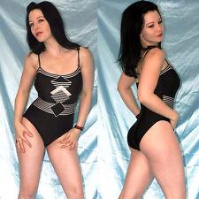 glänzend schwarzer BODY* M 40 * BADEANZUG stretchig* Gymnastikanzug