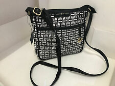 NEW ARRIVAL! TOMMY HILFIGER BLACK MEDIUM CROSSBODY MESSENGER SLING BAG PURSE $69