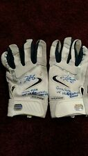 Derek Lee Signed Inscribed Game Used Gloves Cubs MM Mounted Memories